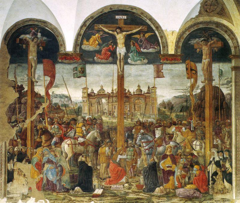 Montorfano,_crocifissione,_1497,_con_interventi_di_leonardo_nei_ritratti_dei_duchi